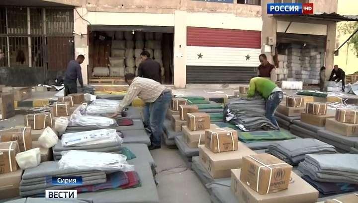 Очередная партия гуманитарной помощи доставлена жителям Хомса