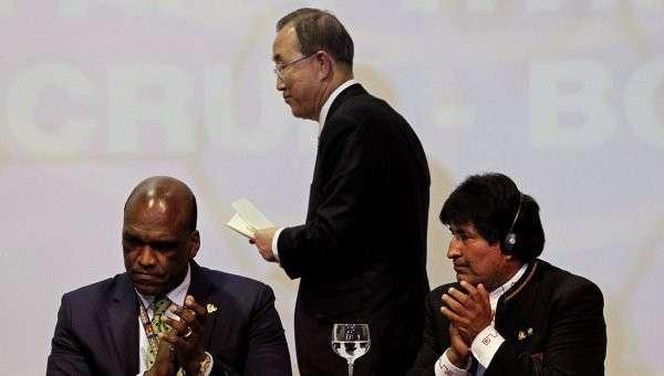 Выступление Генсека ООН Пан Ги Муна на саммите G77 + Китай в Санта-Крусе