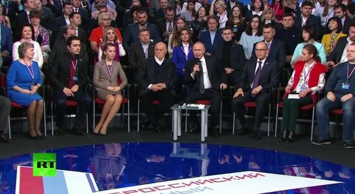Владимир Путин участвует в работе медиафорума ОНФ в СПб — прямая трансляция