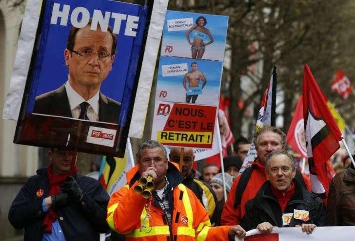 «Мы против Олланда»: социальный протест во Франции становится всё масштабнее