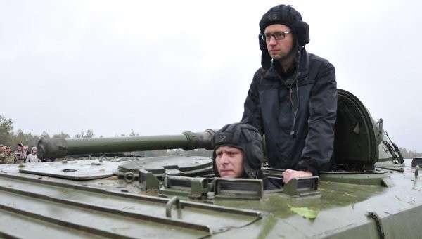 Премьер-министр Украины Арсений Яценюк посетил Львовскую область. Архивное фото