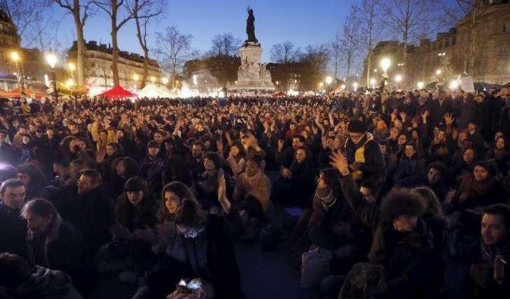 В Париже продолжает работу лагерь протестного движения Nuit debout