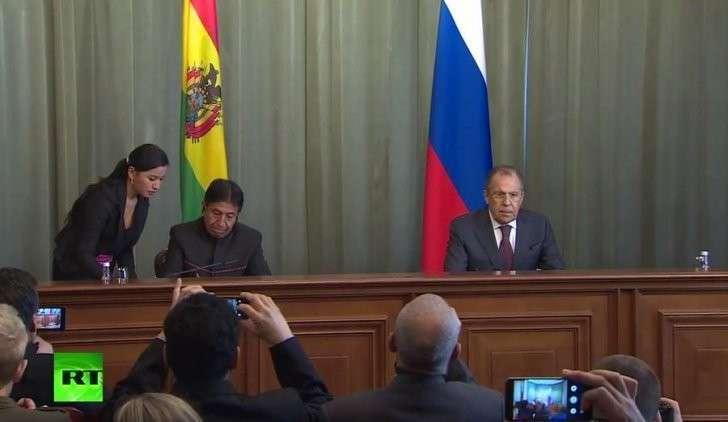 Пресс-конференция Сергея Лаврова и главы МИД Боливии — прямая трансляция