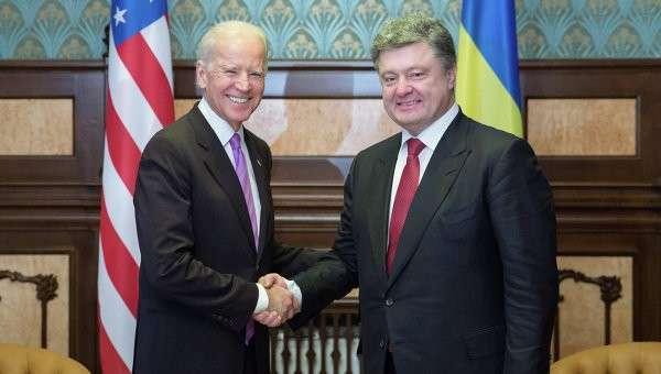Встреча П.Порошенко и Дж.Байдена. Архивное фото