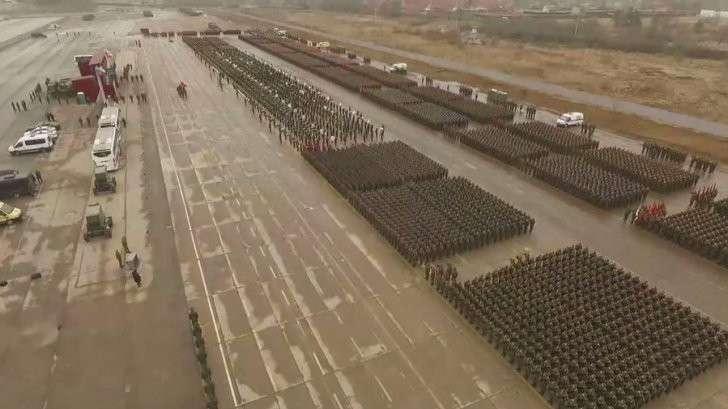 В подмосковном Алабине прошла репетиция парада Победы