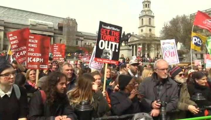 Лондон митингует против Кэмерона и жёсткой экономии