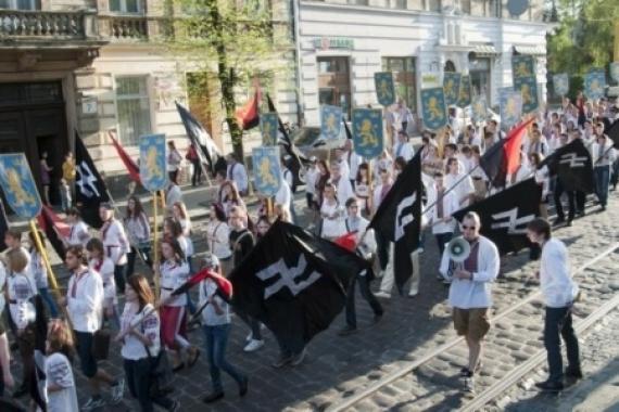Эсесовский марш вышиванок на Украине