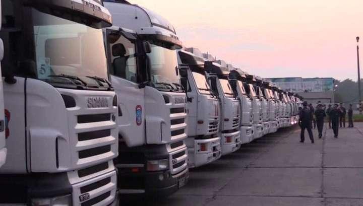 Грузовики с гуманитарной помощью для Донбасса прибыли на российско-украинскую границу