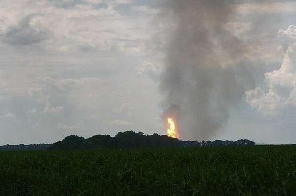 В Полтавской области Украины взорван магистральный газопровод «Уренгой-Помары-Ужгород»