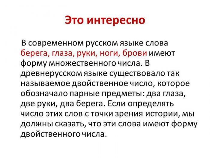Когда русский язык потерял двойственное число