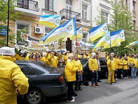 Работники украинских АЭС устроили акцию протеста в Киеве