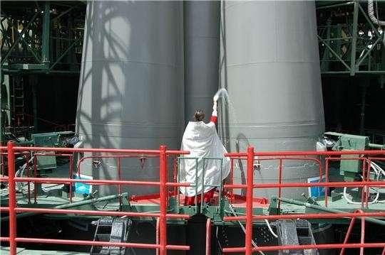 Ракету для первого запуска с Восточного освятили за сутки до старта