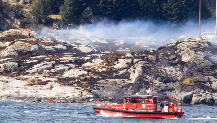 Норвежские спасатели нашли погибших на месте падения вертолёта