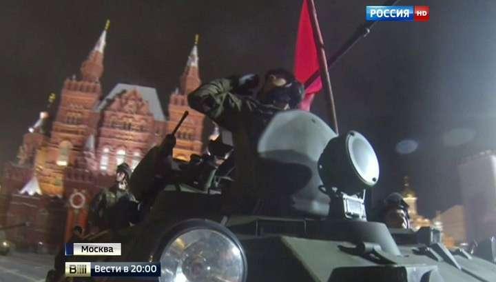 Ночная репетиция Парада Победы: по Красной площади прошли «Ярсы» и «Арматы»