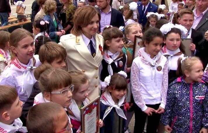 Наталья Поклонская посвятила 150 крымских школьников в «маленькие защитники России»