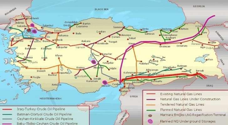Турецкая сетка газопроводов