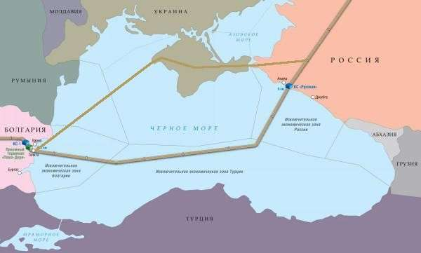Южный поток 2, через Крым