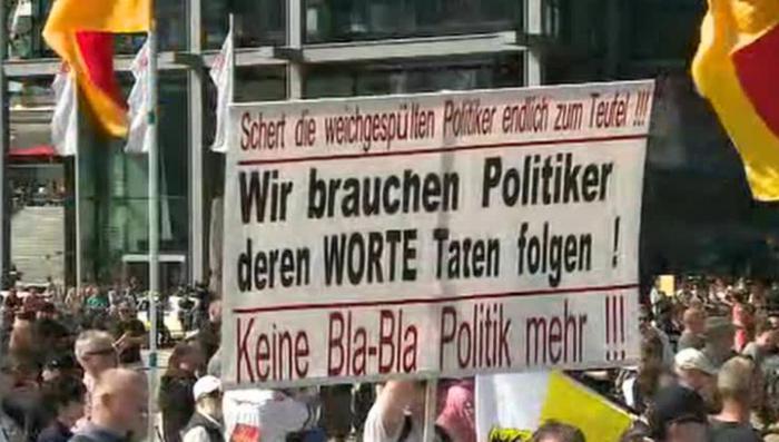 В Европе проходят акции протеста против Меркель и Трансатлантического партнёрства