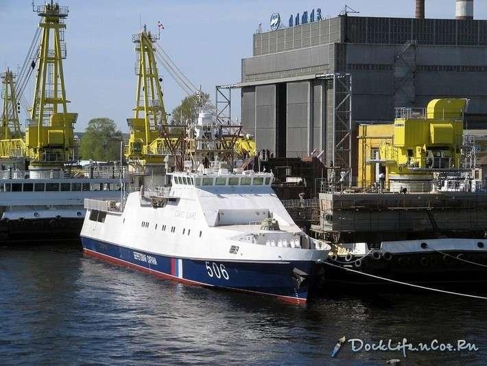 В Санкт-Петербурге спущен на воду пограничный сторожевой корабль «Проворный»