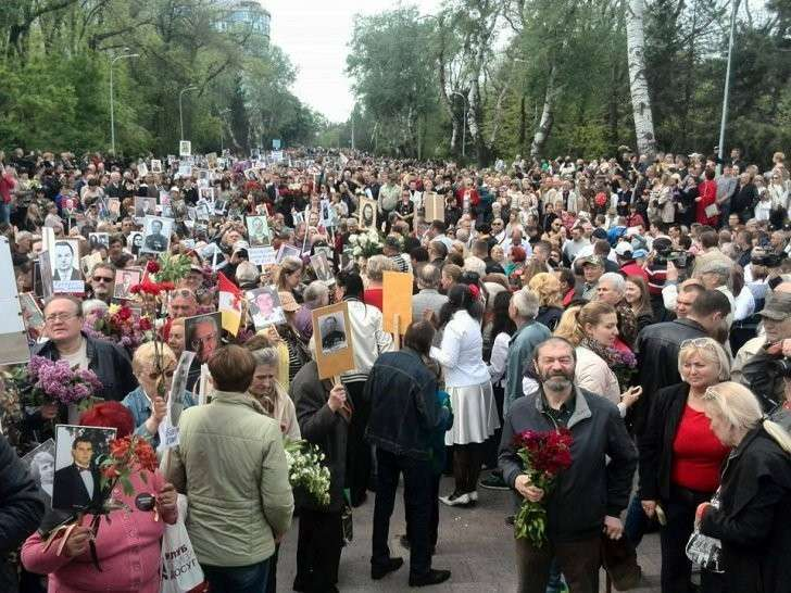 По Одессе прошёл многотысячный «Бессмертный полк»