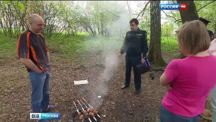 В московских парках проходят антишашлычные рейды