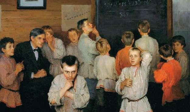 140 лет тому назад в России даже на селе хорошо считали в уме