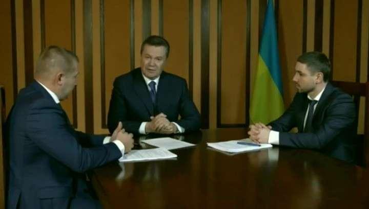 Виктор Янукович сделал заявление по видеосвязи для украинского суда