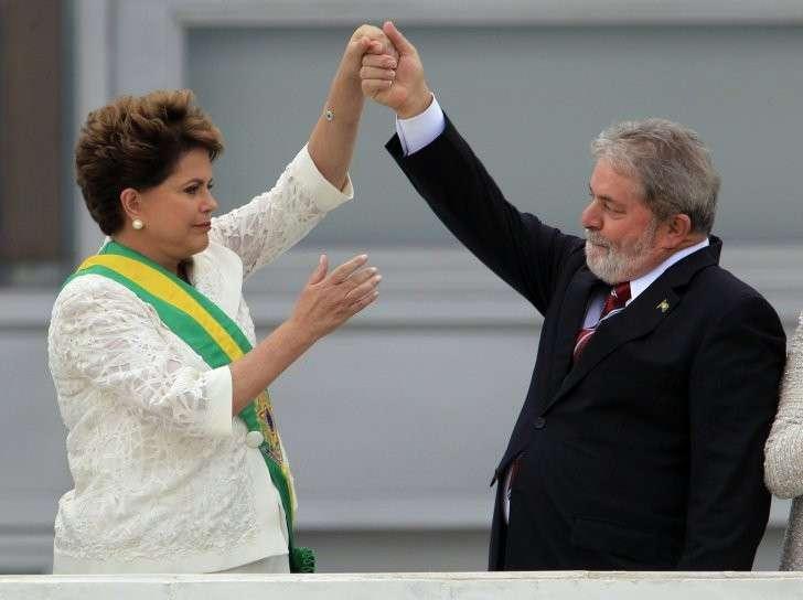 Лула да Силва и Дилма Русеф. 1 января 2011 год