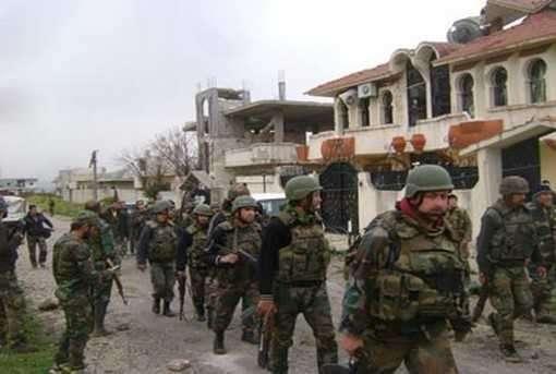 Сирийская армия зачищает поселок Аз-Зара от террористов