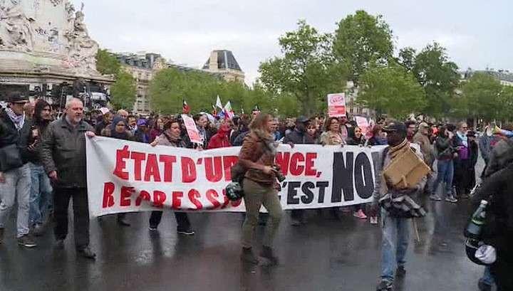 Демонстрация парижских полицейских привела к массовым беспорядкам
