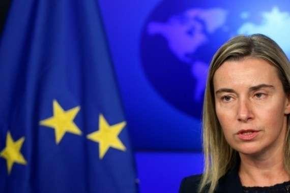 Могерини: «Обусилении санкций против РФ речи сегодня неидет»