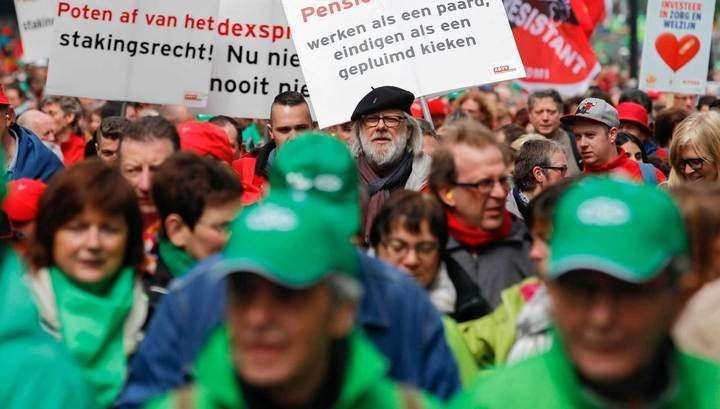 Столкновения с полицией в Бельгии