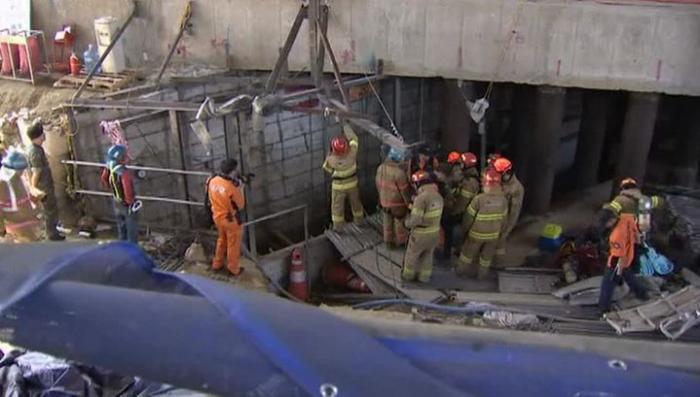 В Сеуле в строящемся метро рухнула часть тоннеля, погибли 4 человека