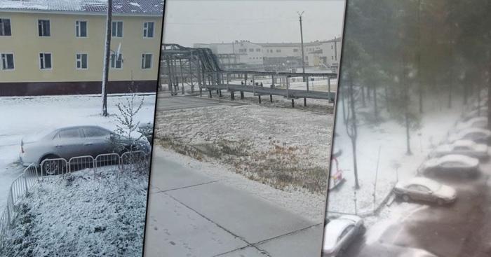 В нескольких городах России в первый день лета выпал снег