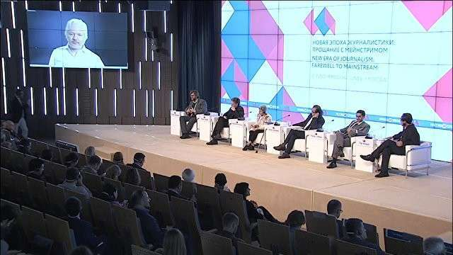 Выступление Джулиана Ассанжа на медиафоруме в МИА «Россия сегодня»