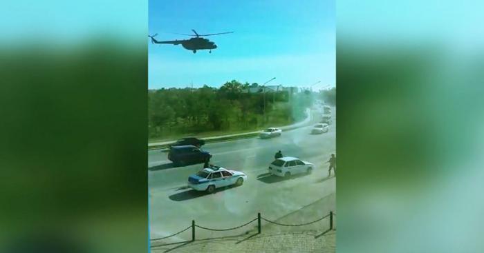 Появилось видео спецоперации по задержанию боевиков в Актобе