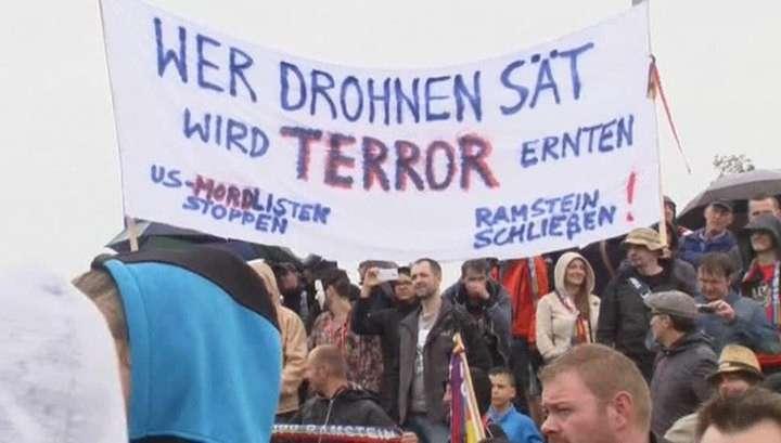 Немцы активно выступают против американских беспилотников на их земле