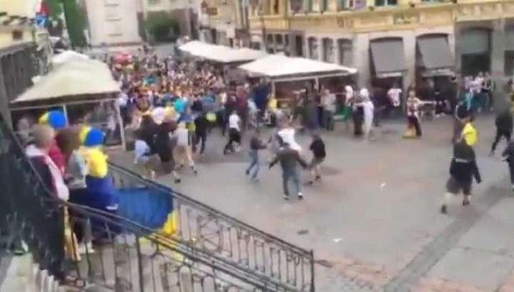 Немецкие и украинские фанаты подрались в Лилле. Зверьки, сэр