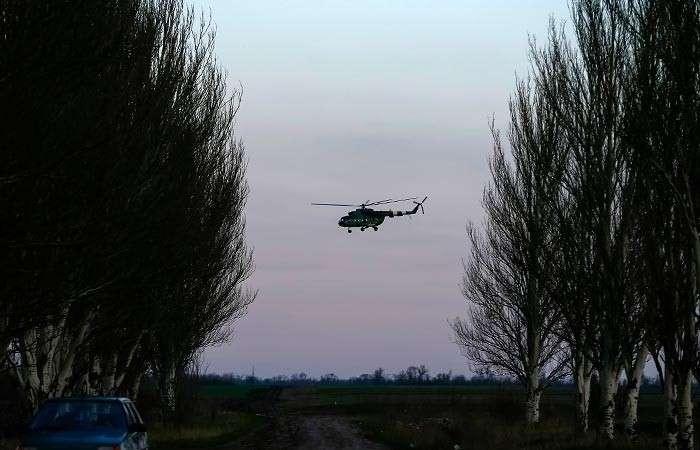 Ополченцы сбили военный вертолет МИ-8 под Славянском