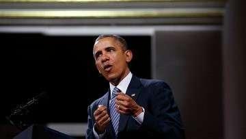 Барак Обама выступает в бельгийском дворце изящных искусств 26 марта 2014