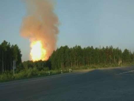 Взрыв прогремел на газопроводе в Свердловской области