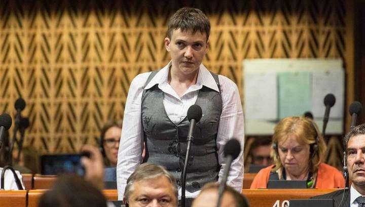 Убийца Савченко выступила в ПАСЕ с двухминутной речью