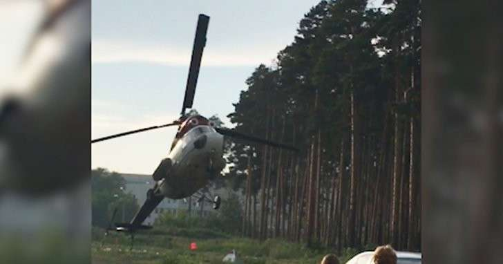 Крушение вертолёта в Екатеринбурге сняли на видео
