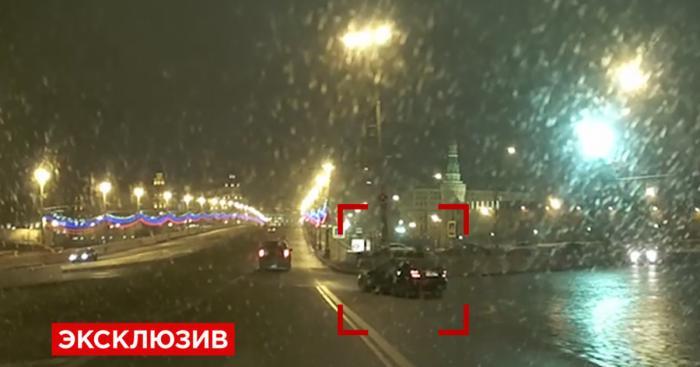 Видеорегистратор снял загадочный мерседес за минуту до убийства Немцова