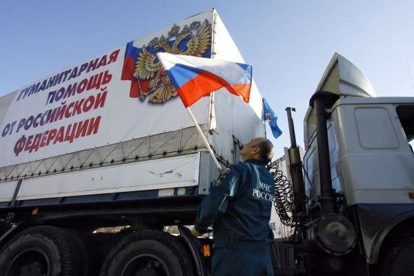 Очередная колонна гумпомощи МЧС отправилась в Донбасс