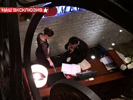 Видео из ресторана, где был задержан за получение взятки Никита Белых