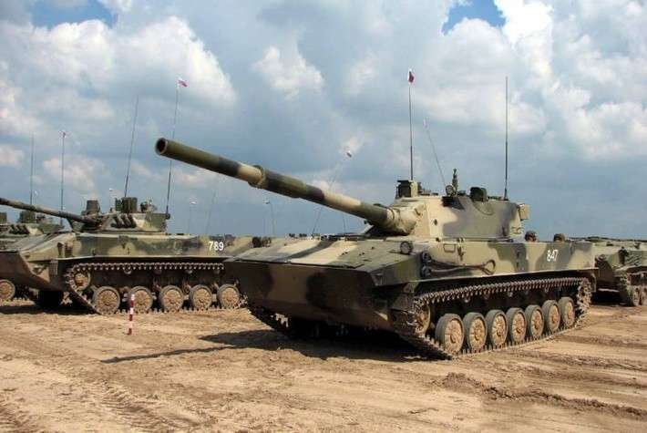 2С25 «Спрут-СД» - 125-мм самоходная противотанковая пушка