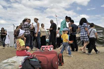 Лагерь беженцев в Ростовской области