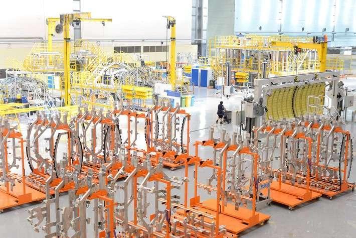 Новая линия сборки агрегатов для лайнера МС-21 начала работу на АО «Авиастар-СП»