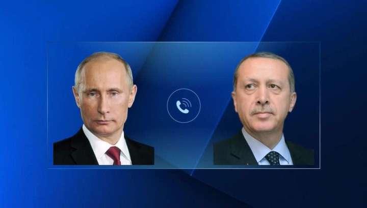 Разговор Владимира Путина и Реджепа Эрдогана продолжался 40 минут и был «очень позитивным»